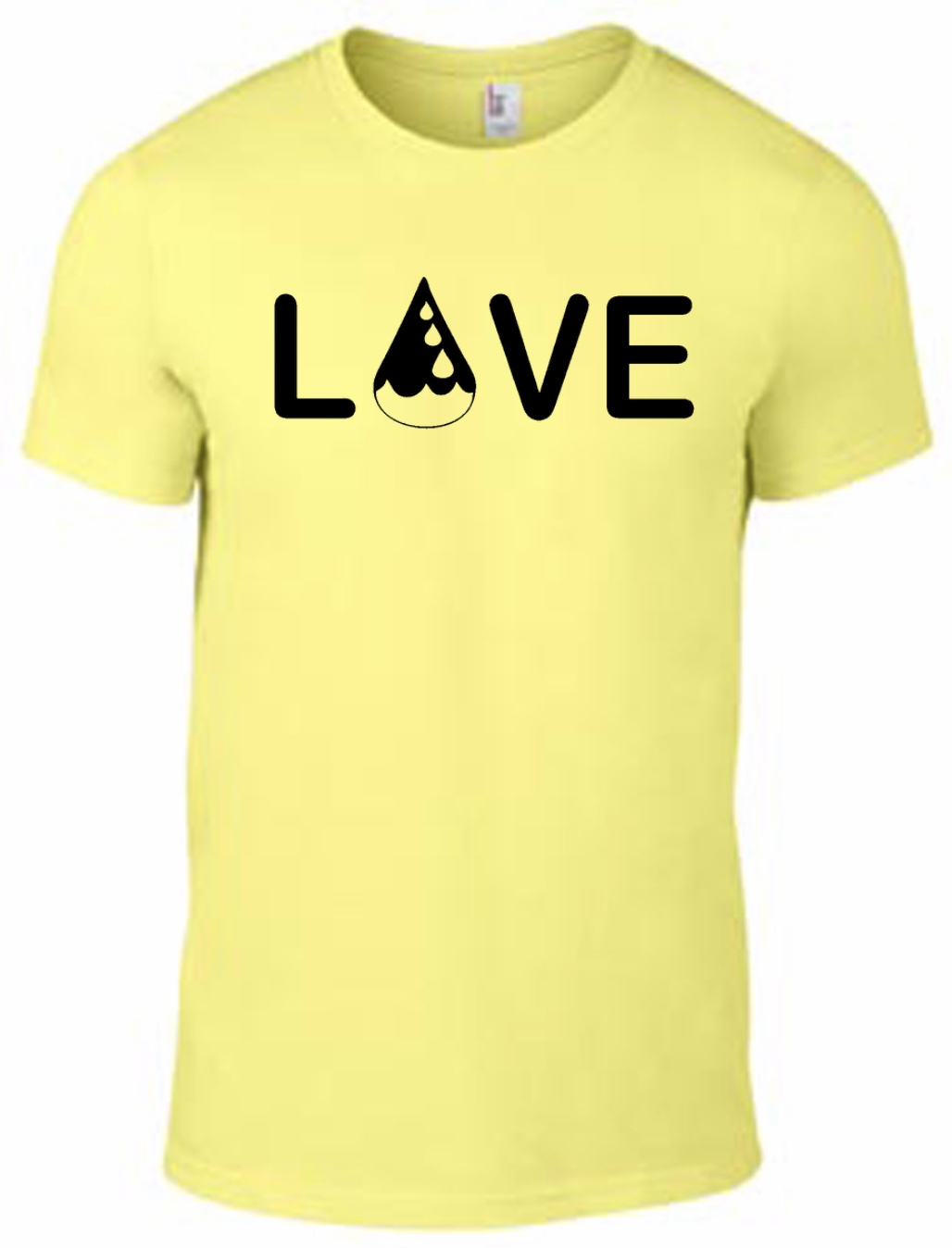 Drop of Love Tee - Yellow