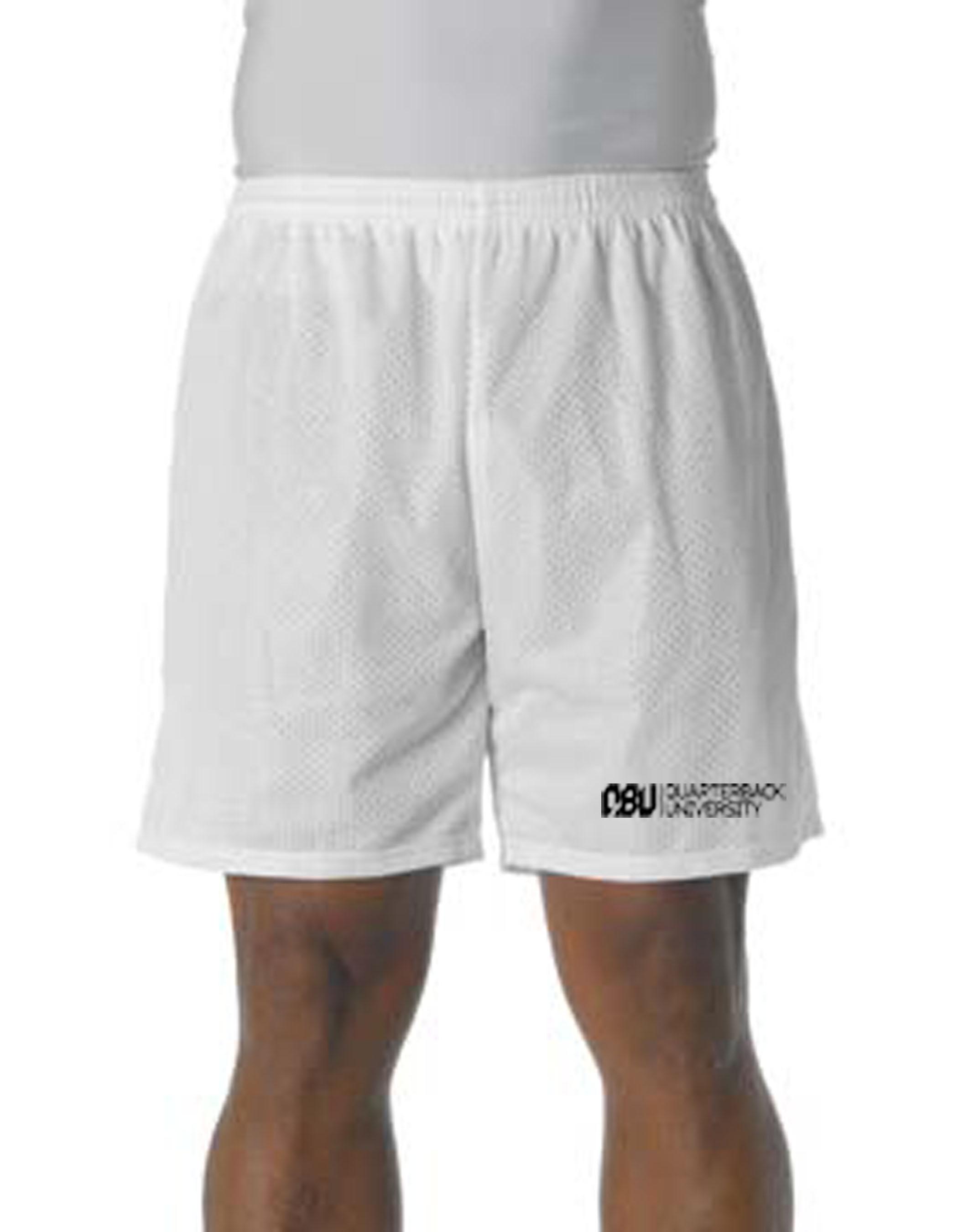 Quarterback University Shorts White