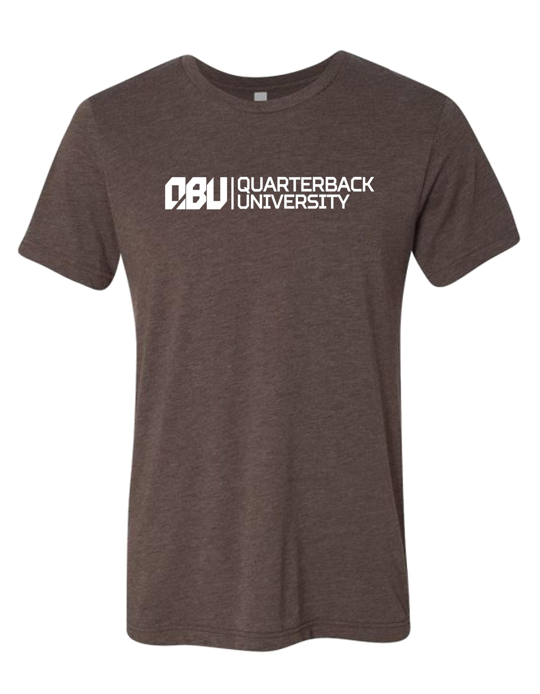 Quarterback University Tee Brown