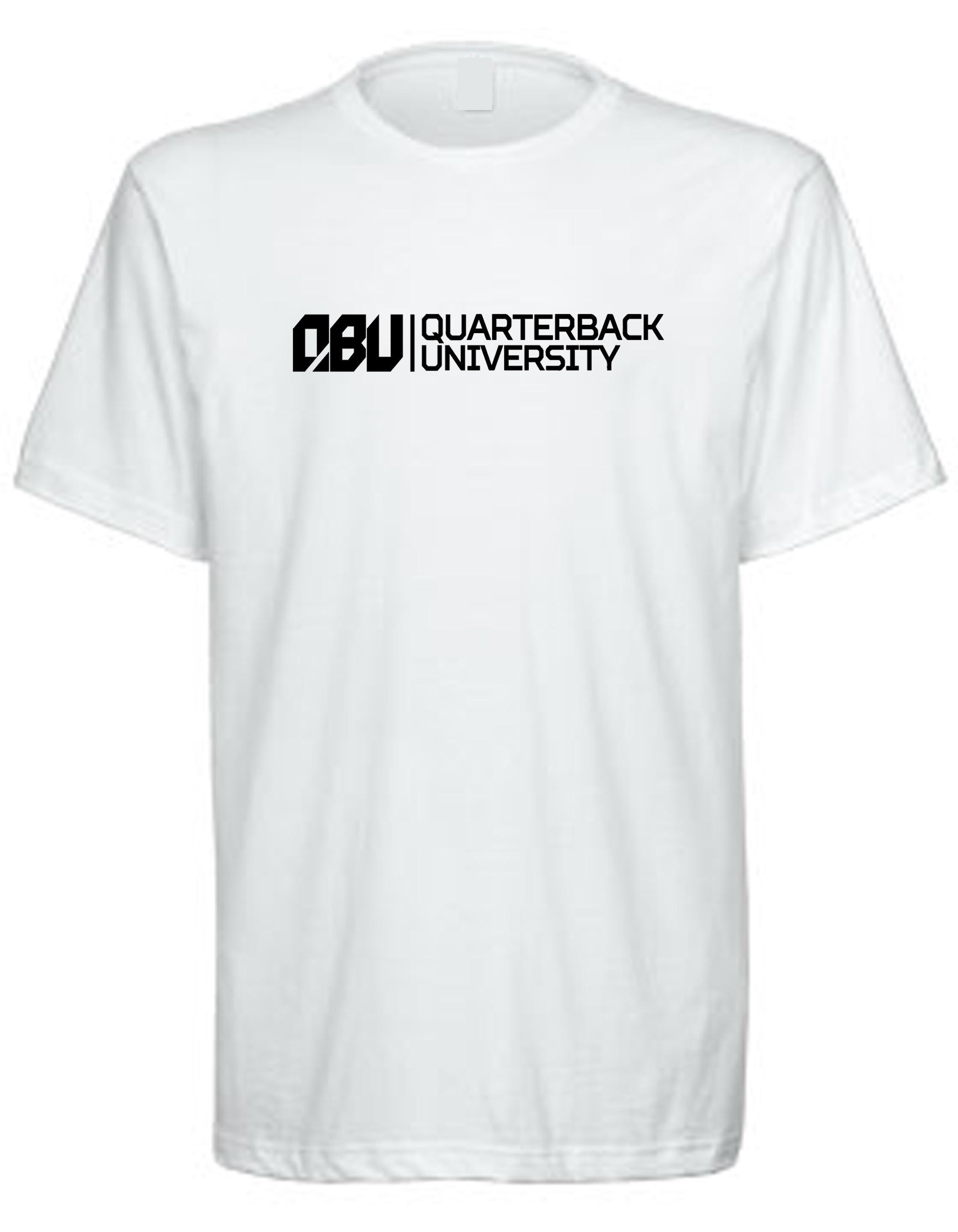 Quarterback University Tee White
