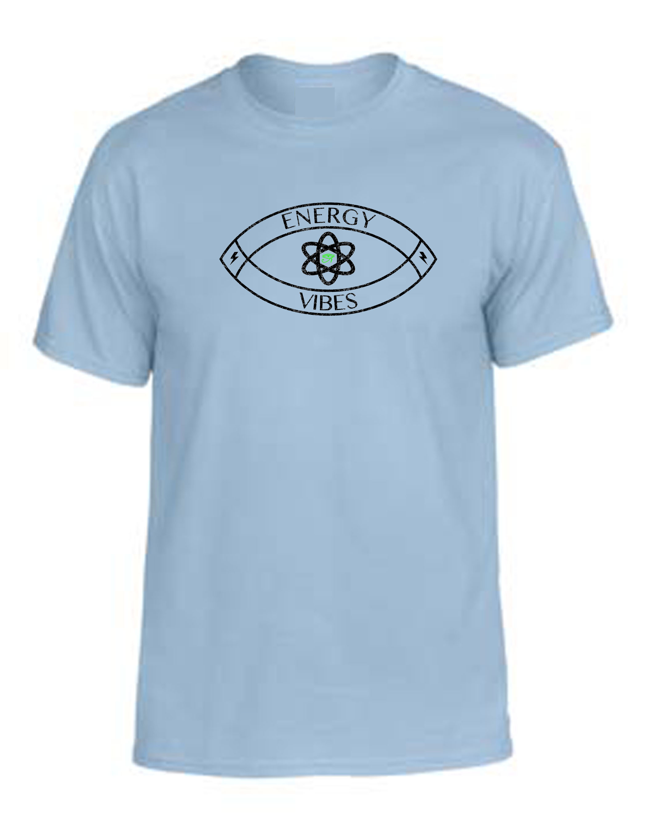 Energy and Vibes Tee Light Blue