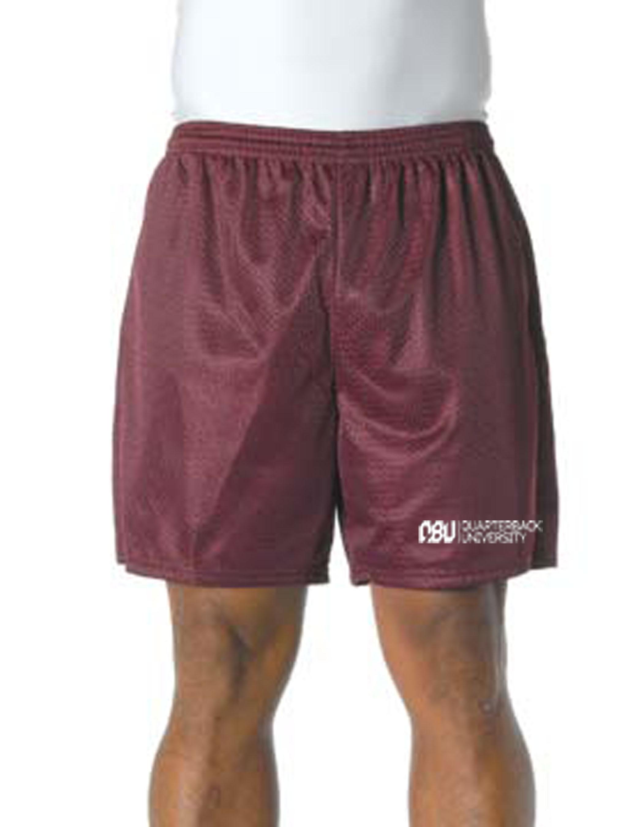Quarterback University Shorts Maroon