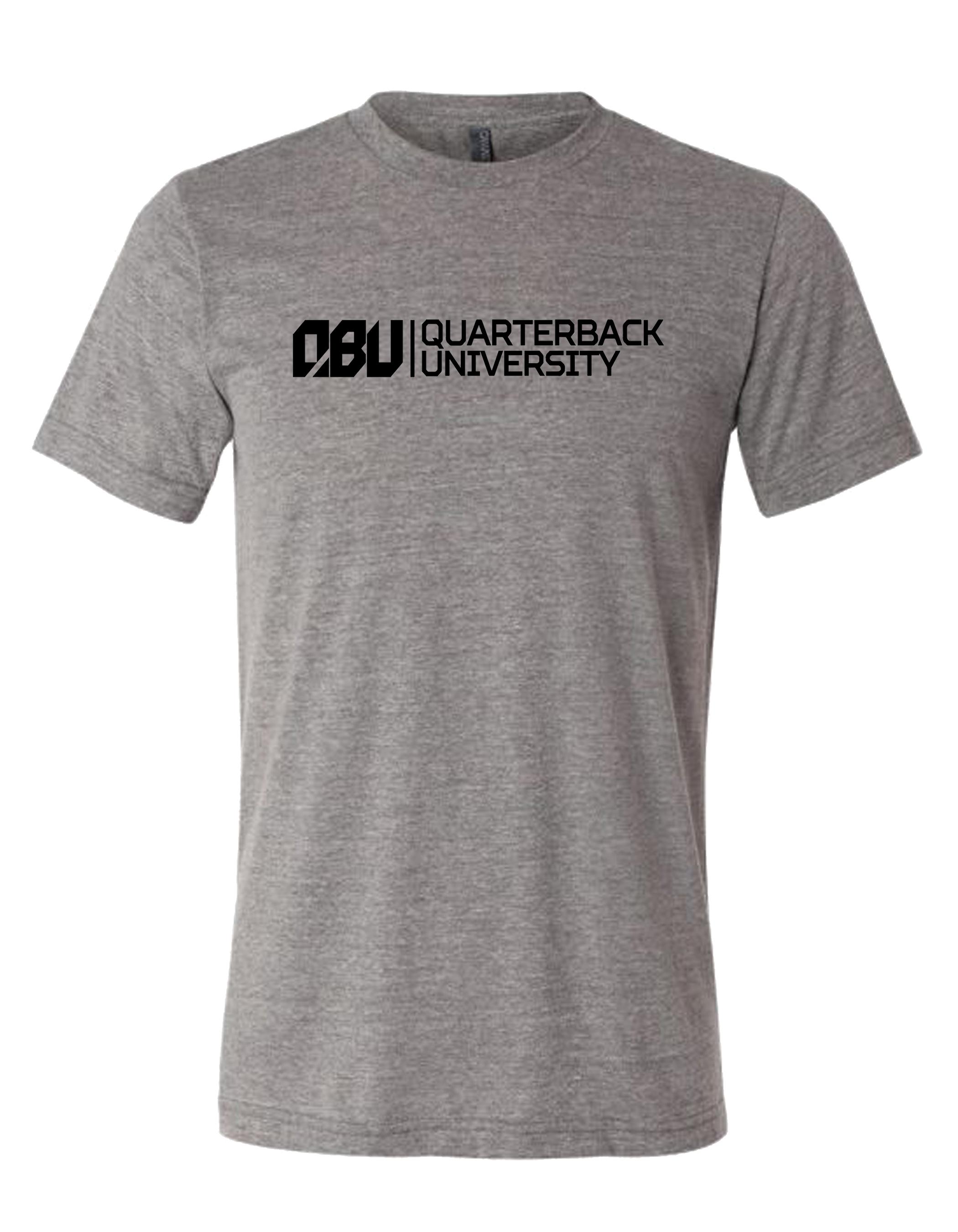 Quarterback University Tee Grey