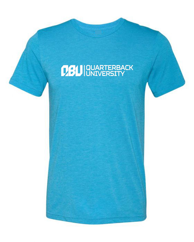 Quarterback University Tee Sky Blue